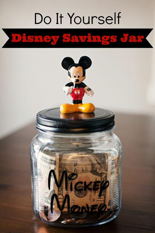 Do it yourself mickey savings jar for Savings jar ideas