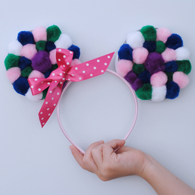 Pom Pom Minnie Mouse Ears Headband
