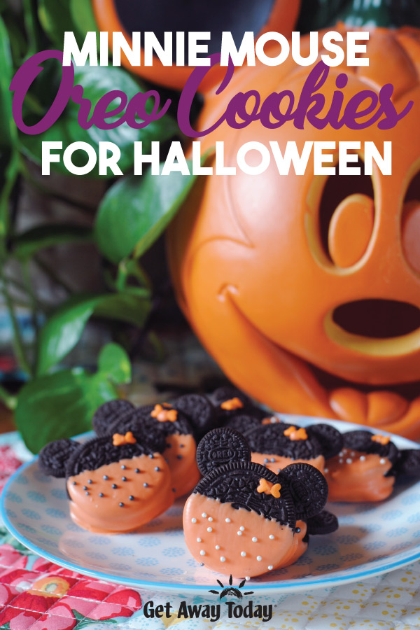 Minnie Mouse Oreo Cookies for Halloween || Get Away Today