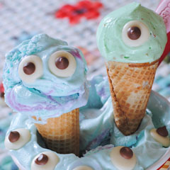 Monsters Inc. Ice Cream Cones Recipe