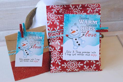 Free Printable Warm Hugs Hot Chocolate Gift Tags