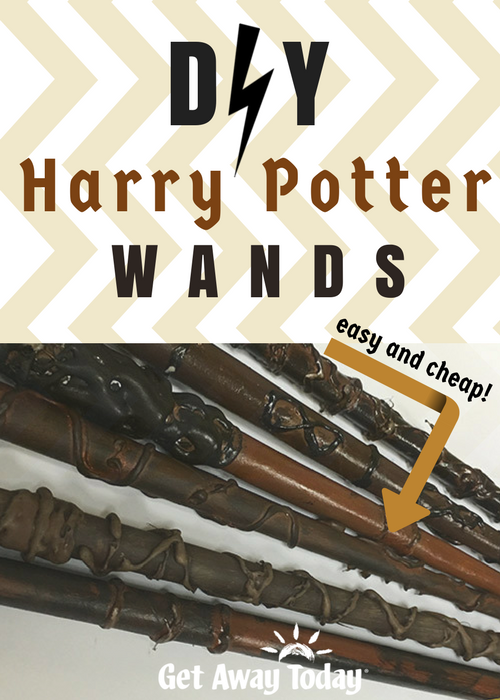 DIY Harry Potter Wands Pin | Get Away Today