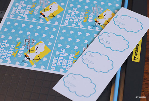 Olaf Valentine Printable Clouds