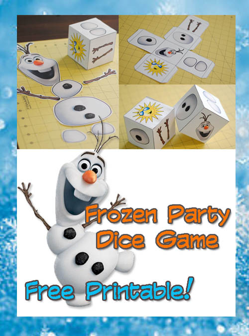 frozen party dice game free printable