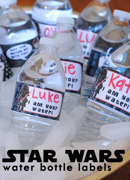 Free Printable Star Wars Party Food Labels