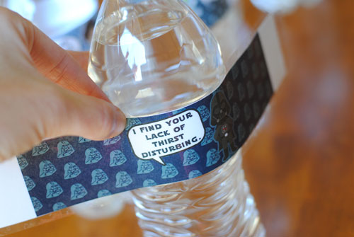 Star Wars Water Bottle Labels - Free Printable