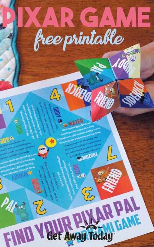 Pixar Game with Free Printable || Get Away Today