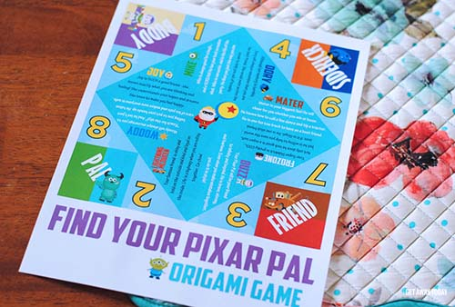 Pixar Game Printable