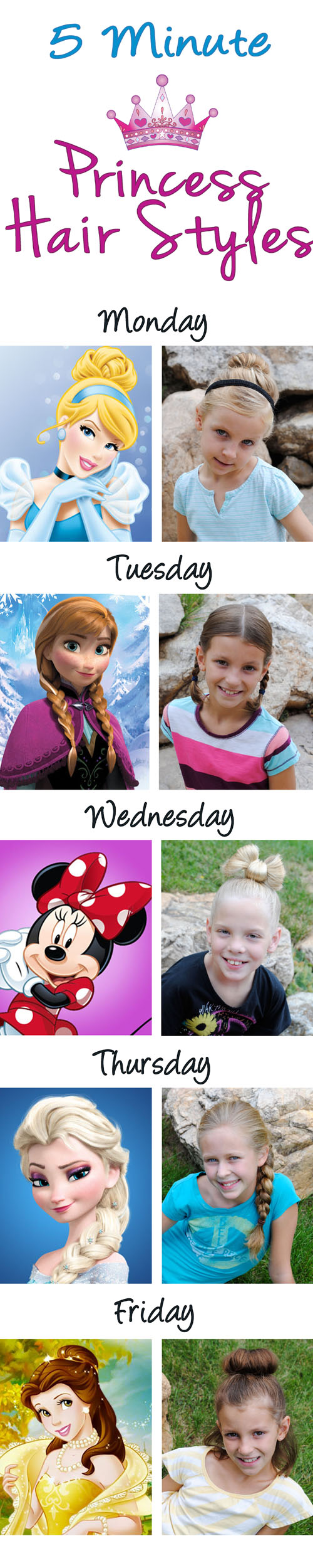 5 Princess Hairdos In 5 Minutes Or Less