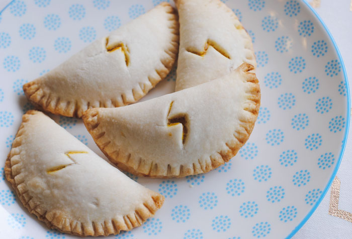Harry Potter pumkin pasties recipe on plate.