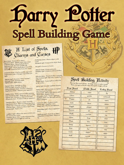 image relating to Harry Potter Spell List Printable titled Cost-free Harry Potter Spells Printable Activity and Wand Guideline