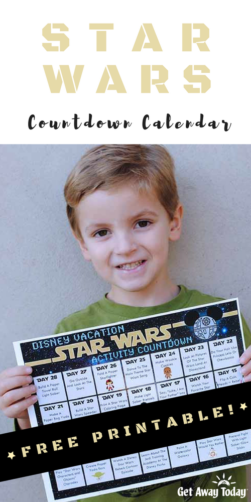 Star Wars Countdown Calendar || Get Away Today