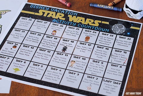 Free Printable Star Wars Countdown Calendar
