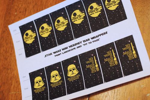 star wars halloween handouts