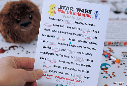 Free Printable Star Wars Valentine