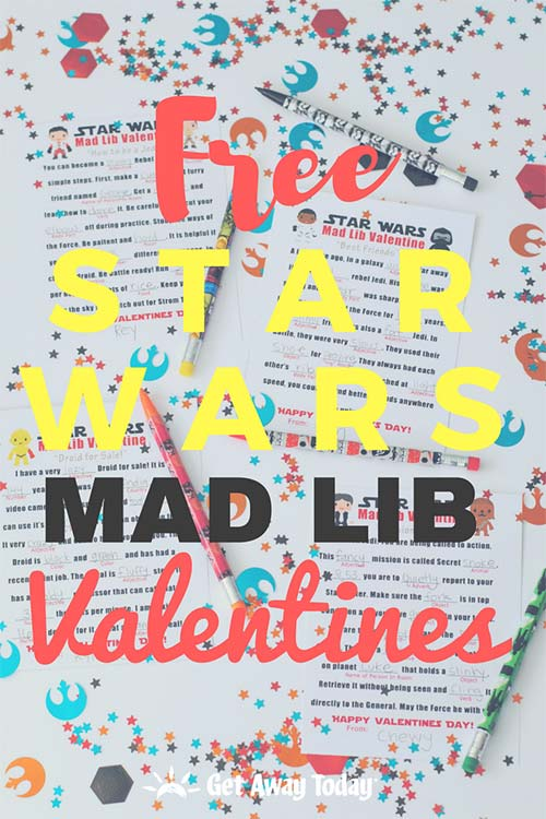 Free Star Wars Mad Lib Valentines