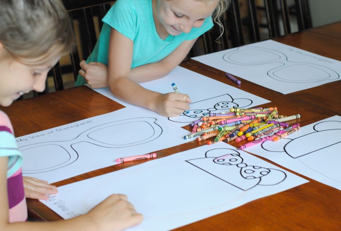 Free Disney Printable Craft Coloring Together