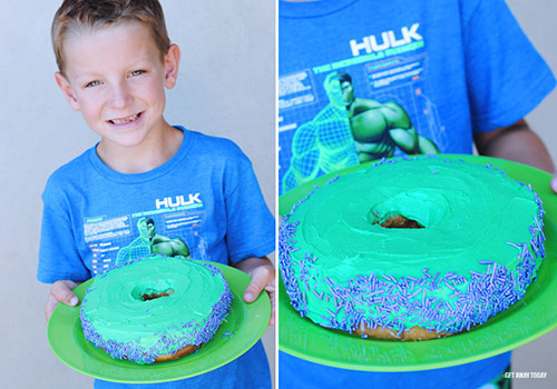 Finished Hulk Super Hero Donuts