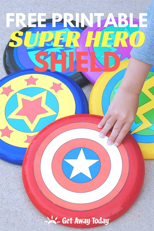 How to Make Your Own Super Hero Shield || Get Away Today