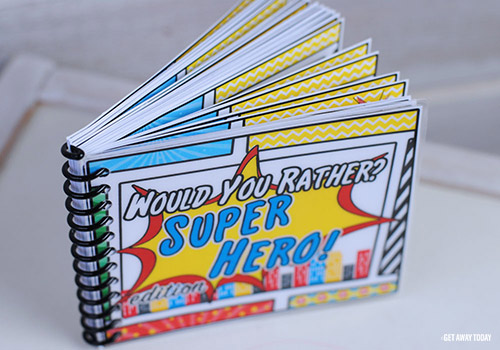 Super Hero Would You Rather Book