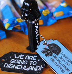 Star Wars Disneyland Vacation Announcement Gift Tags