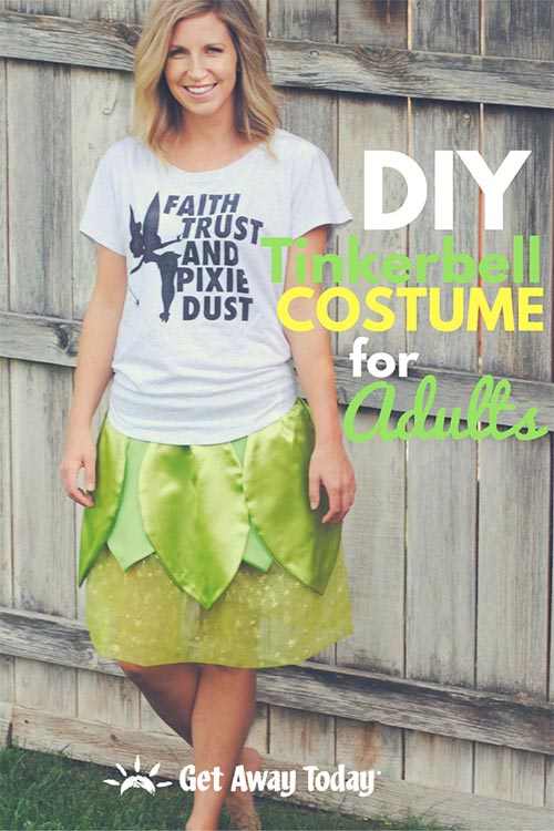 diy tinkerbell costume for adults
