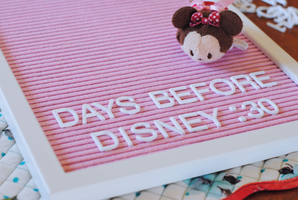 Top 30 Disney Quotes and Letter Board Countdown Idea