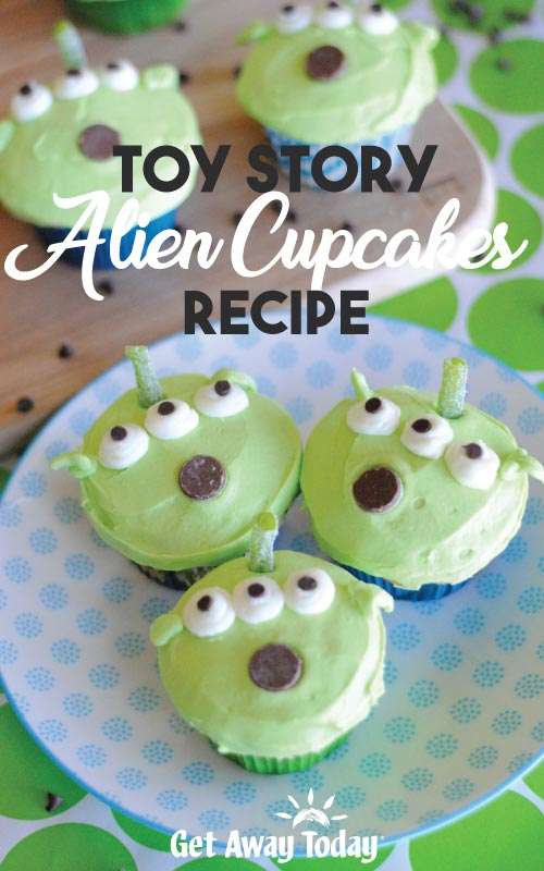 Toy Story Alien Cupcakes Recipe || Get Away Today