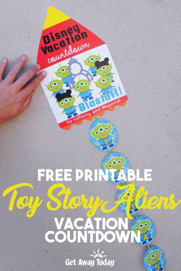 photograph about Free Printable Disney Tickets identified as Free of charge Printable Toy Tale Aliens Countdown