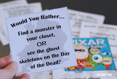 picture about Would You Rather Cards Printable identify Pixar Would On your own In its place Activity - Cost-free Printable