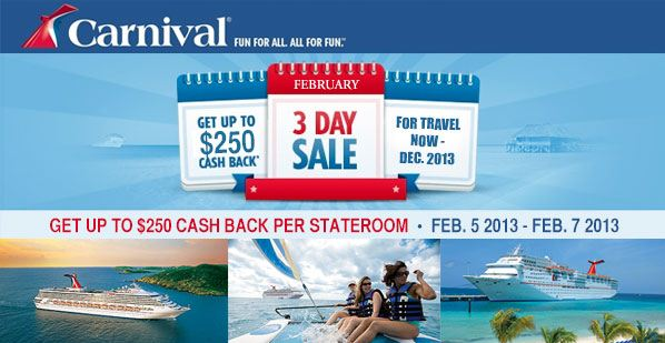 Carnival Cruise 3 Day Sale